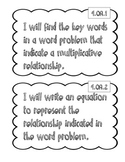 "4th Grade Math ""I Will"" Statements"