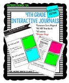 4th Grade Math Interactive Notebook with Sticky Notes NBT