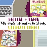 4th Grade Math Interactive Notebook Bundle: Digital + Paper Interactive Notebook