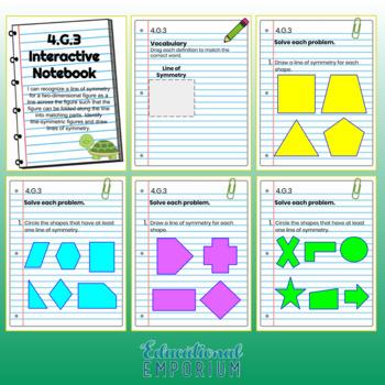4th Grade Math Interactive Notebook: Geometry (G)