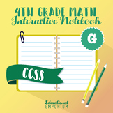4th Grade Math Interactive Notebook: Geometry (G)
