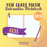 4th Grade Math Interactive Notebook, MD (Measurement & Data)