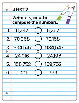 4th Grade Math Interactive Notebook, NBT (Number & Operations in Base Ten)