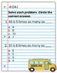 4th Grade Math Interactive Notebook: OA (Operations & Algebraic Thinking)