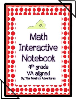 4th Grade Math Interactive Notebook / SOL 4.1 to 4.16