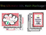 4th Grade Math Interactive Notebook & Task Cards - SOL 4.1 to 4.16
