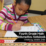 Fourth Grade Math Interactive Notebook for Entire Year Bundle