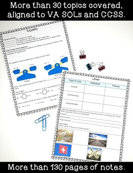 4th Grade Math Interactive Notes- ENTIRE YEAR!