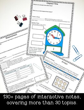 4th Grade Math Interactive Notes & Parent Study Guides- ENTIRE YEAR!
