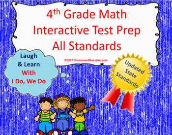 4th Grade Math Interactive Test Prep: All 34 Standards ***