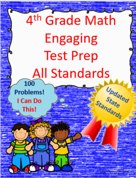 4th Grade Math Engaging Test Prep: All Standards, 100 Questions