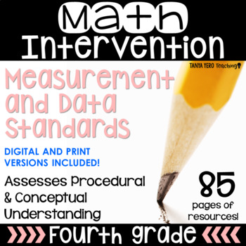 4th Grade Math Intervention NO PREP PACK RTI Guided Math Measurement and Data