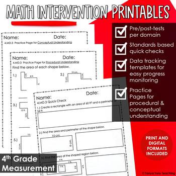 4th Grade Math Intervention NO PREP PACK RTI Guided Math M