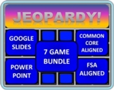 4th Grade Math Jeopardy BUNDLE including 7 separate games!