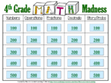 4th Grade Math Madness Game! Interactive Power Point Presentation