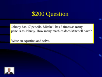 4th Grade Math Jeopardy Review