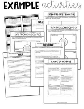 4th Grade Math Journal Area and Perimeter