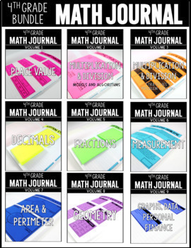 4th Grade Math Journal Bundle