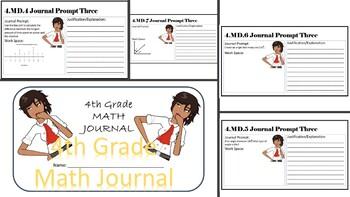 4th Grade Math Journal Bundle (Common Core) - Editable