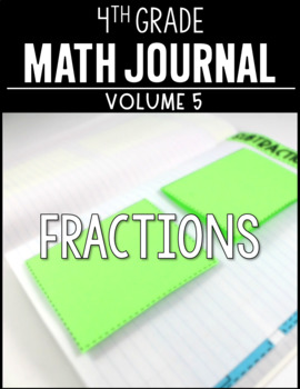 4th Grade Math Journal Fractions