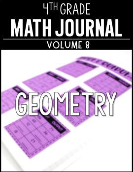 4th Grade Math Journal Geometry