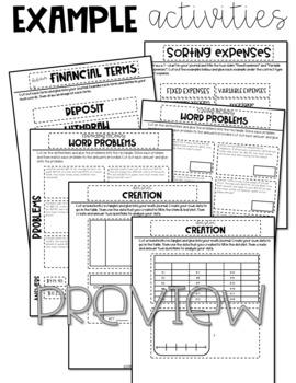 4th Grade Math Journal Graphs, Data, Personal Finance