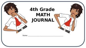 4th Grade Math Journal - MD - Common Core Aligned - Editable