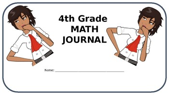 4th Grade Math Journal - NBT - Common Core Aligned - Editable