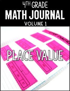 4th Grade Math Journal Place Value