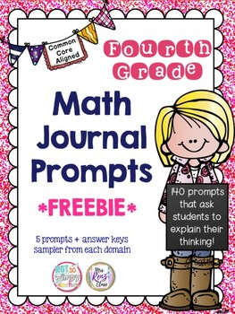 4th Grade Math Journal Prompts (FREE)