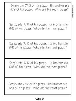 4th Grade Math Journal Prompts -set 2