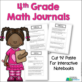 4th Grade Math Journals for Interactive Notebooks {Aligned with Common Core}