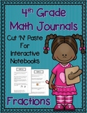 4th Grade Math Journals for Interactive Notebooks {CC Aligned Fractions}
