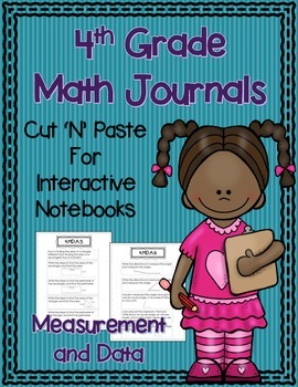 4th Grade Math Journals for Interactive Notebooks {CC Aligned MD}