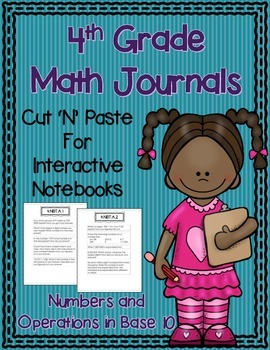 4th Grade Math Journals for Interactive Notebooks {NBT CC Aligned}