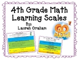 4th Grade Math Learning Scales (Go Math!)