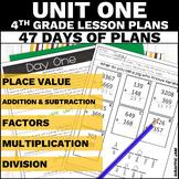 4th Grade Math Lesson Plans Unit 1 (1st Nine Weeks)