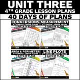 4th Grade Math Lesson Plans (Unit Three)