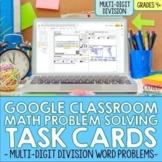 4th Grade Math Long Division Digital Word Problem Task Car