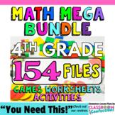 4th Grade Math Bundle: MEGA Sized With Math Centers Galore