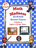 4th Grade Math Madness STAAR Review Game