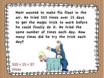 4th Grade Math Magic Word Problem PowerPoint