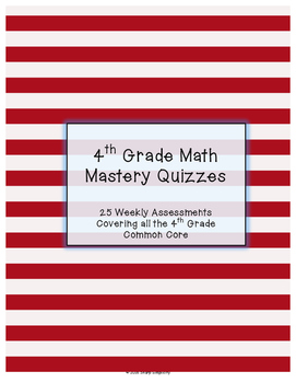 4th Grade Math Mastery Quizzes - Common Core