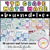 4th Grade Math Maze Bundle