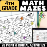 4th Grade Math Mazes - Fun Math Review Worksheets - 4th Gr