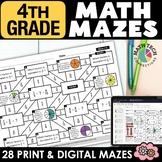 4th Grade Math Mazes - A GROWING BUNDLE - Fun Math Review