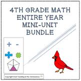 4th Grade Math Mini-Units ENTIRE YEAR BUNDLE