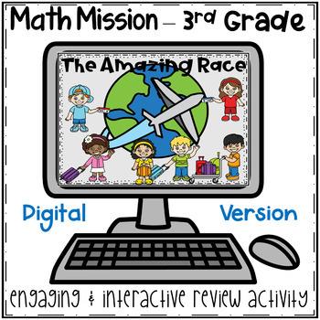 4th Grade Math Mission - Digital Escape Room - Back to School Amazing Race