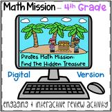 4th Grade Math Mission - Digital Escape Room - Pirates Place Value Challenge