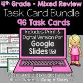 4th Grade Math - Mixed Review Task Cards Bundle